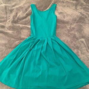 Asos-open back/criss cross strap Green dress!